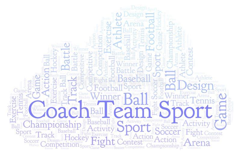 Σύννεφο αθλητικής λέξης ομάδας λεωφορείων διανυσματική απεικόνιση