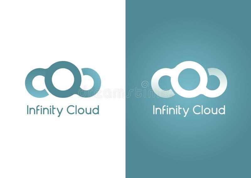 Σύννεφο απείρου Ένα σύννεφο σε μια μορφή απείρου απεικόνιση αποθεμάτων