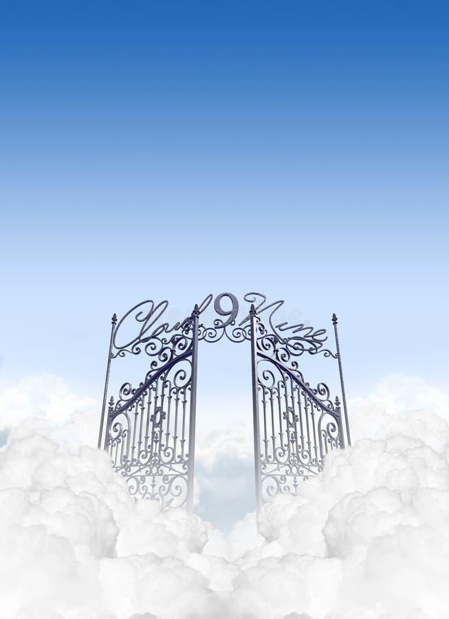 Σύννεφο εννέα ελεύθερη απεικόνιση δικαιώματος