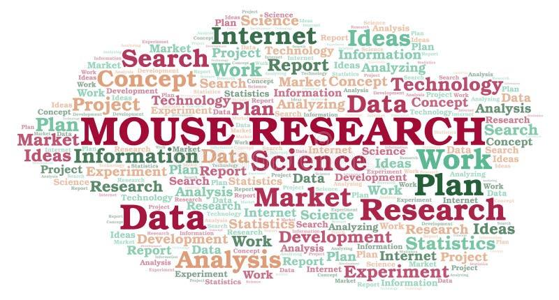 Σύννεφο ερευνητικής λέξης ποντικιών απεικόνιση αποθεμάτων