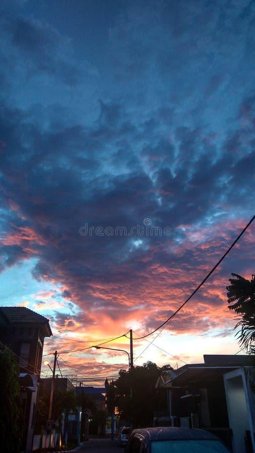 Σύννεφο και ανατολή στοκ εικόνες με δικαίωμα ελεύθερης χρήσης