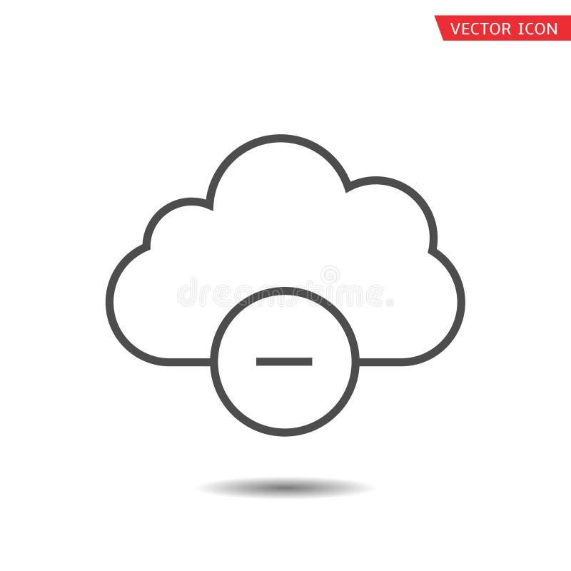 Σύννεφο και αρνητικό εικονίδιο διανυσματική απεικόνιση