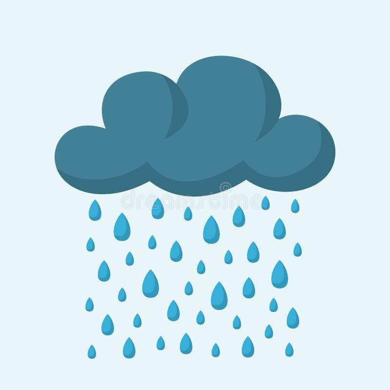 Σύννεφο και βροχή ελεύθερη απεικόνιση δικαιώματος