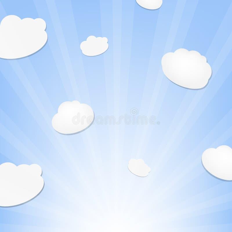 Σύννεφο και ηλιοφάνεια ελεύθερη απεικόνιση δικαιώματος