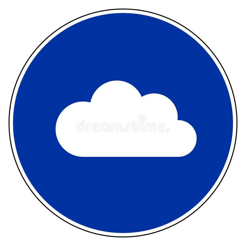 Σύννεφο και μπλε σημάδι διανυσματική απεικόνιση