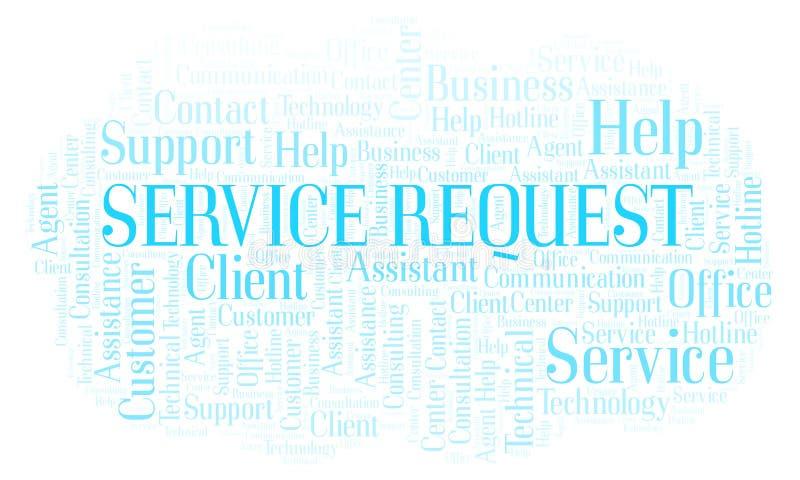 Σύννεφο λέξης αιτήματος υπηρεσιών απεικόνιση αποθεμάτων