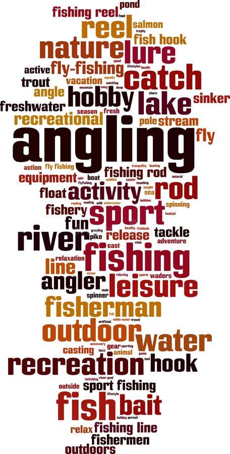 Σύννεφο λέξης αλιειών ελεύθερη απεικόνιση δικαιώματος