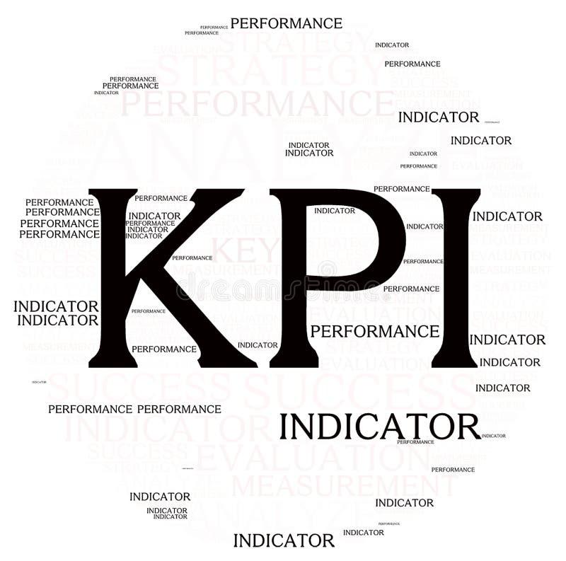 Σύννεφο λέξης αναθεώρησης σχεδίων Kpi στοκ εικόνα