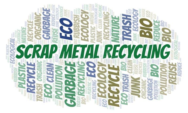 Σύννεφο λέξης ανακύκλωσης παλιοσίδερου ελεύθερη απεικόνιση δικαιώματος