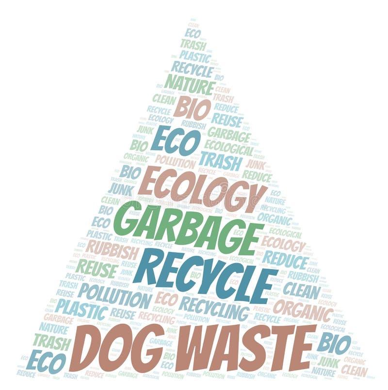 Σύννεφο λέξης αποβλήτων σκυλιών διανυσματική απεικόνιση