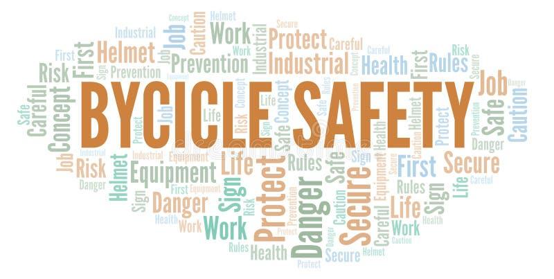 Σύννεφο λέξης ασφάλειας Bycicle απεικόνιση αποθεμάτων
