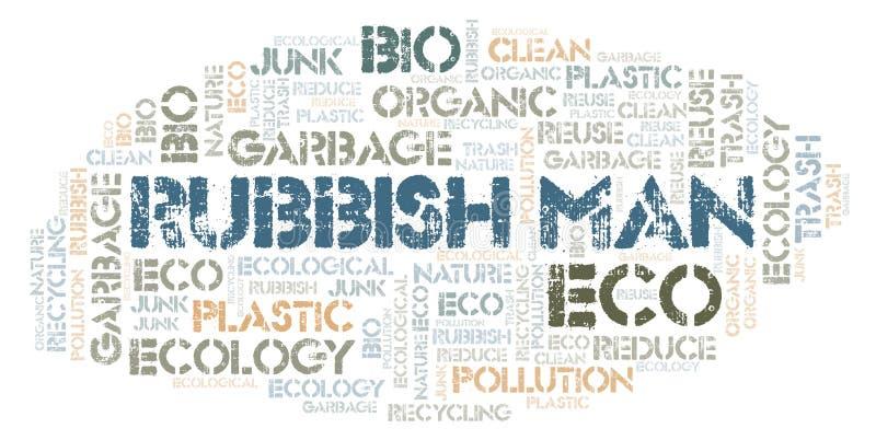 Σύννεφο λέξης ατόμων σκουπιδιών απεικόνιση αποθεμάτων
