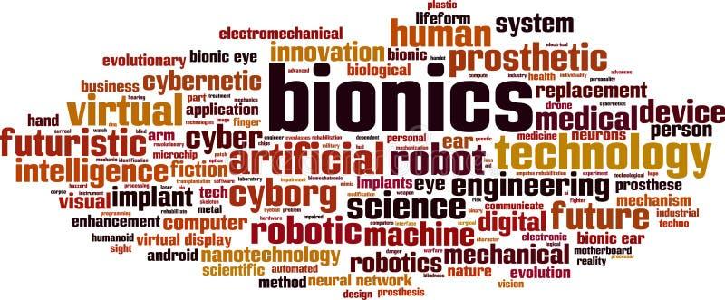 Σύννεφο λέξης βιοηλεκτρονικής απεικόνιση αποθεμάτων