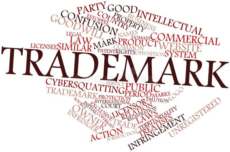 Σύννεφο λέξης για το εμπορικό σήμα διανυσματική απεικόνιση