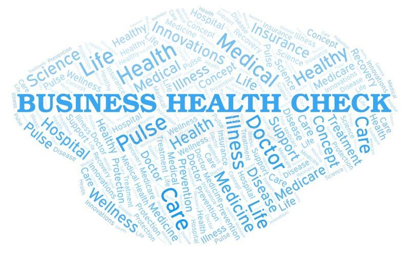 Σύννεφο λέξης ελέγχου επιχειρησιακής υγείας ελεύθερη απεικόνιση δικαιώματος