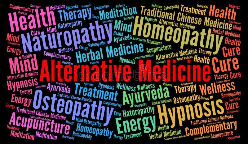 Σύννεφο λέξης εναλλακτικής ιατρικής ελεύθερη απεικόνιση δικαιώματος