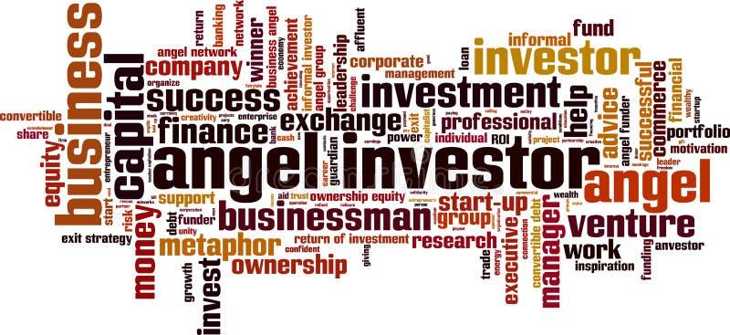 Σύννεφο λέξης επενδυτών αγγέλου απεικόνιση αποθεμάτων