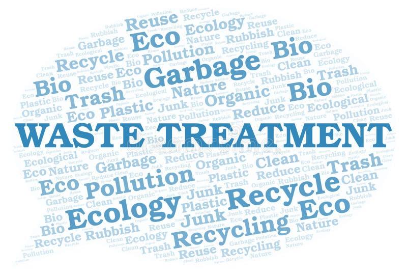 Σύννεφο λέξης επεξεργασίας αποβλήτων απεικόνιση αποθεμάτων