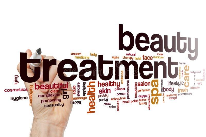 Σύννεφο λέξης επεξεργασίας ομορφιάς στοκ εικόνες