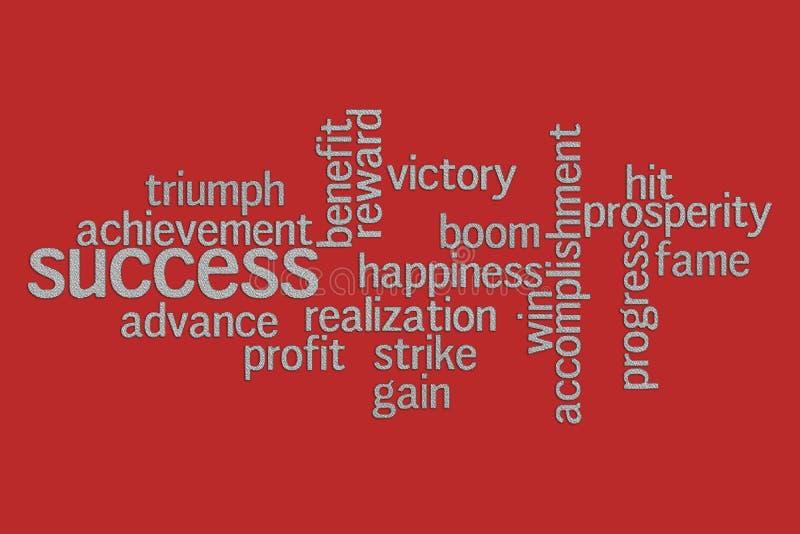 Σύννεφο λέξης επιτυχίας ελεύθερη απεικόνιση δικαιώματος