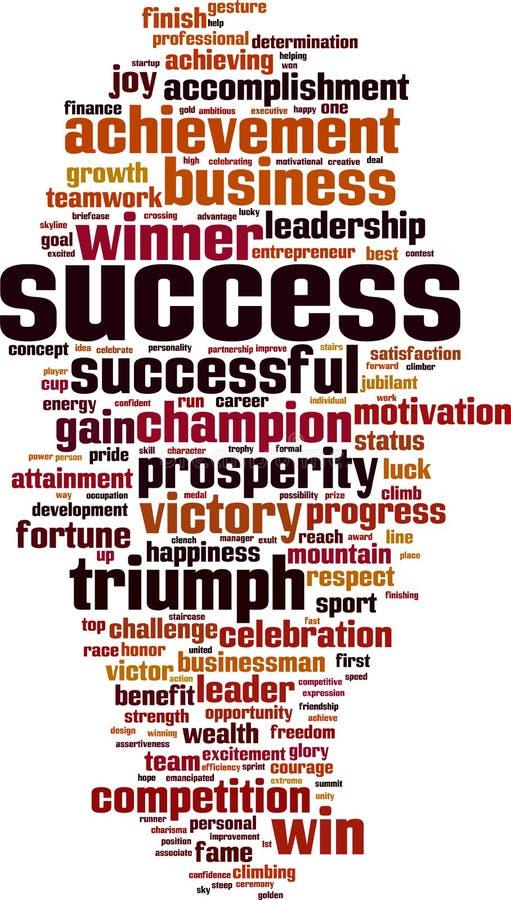 Σύννεφο λέξης επιτυχίας απεικόνιση αποθεμάτων
