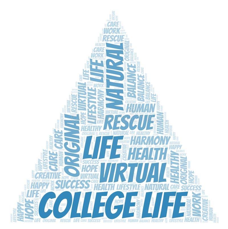 Σύννεφο λέξης ζωής κολλεγίου απεικόνιση αποθεμάτων