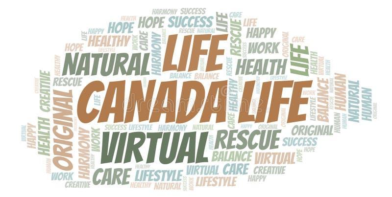 Σύννεφο λέξης ζωής του Καναδά διανυσματική απεικόνιση
