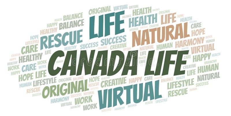 Σύννεφο λέξης ζωής του Καναδά απεικόνιση αποθεμάτων