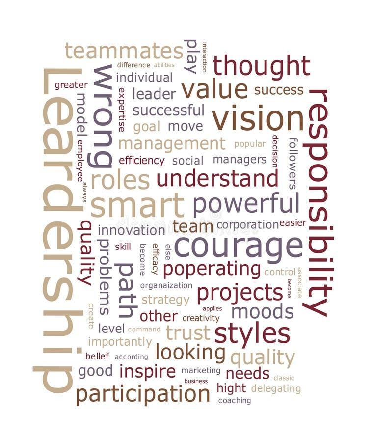 Σύννεφο λέξης ηγεσίας απεικόνιση αποθεμάτων