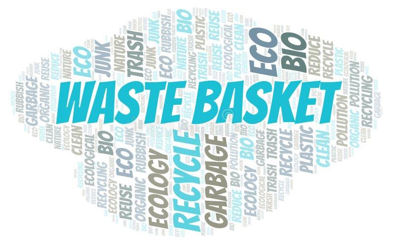 Σύννεφο λέξης καλαθιών αποβλήτων ελεύθερη απεικόνιση δικαιώματος