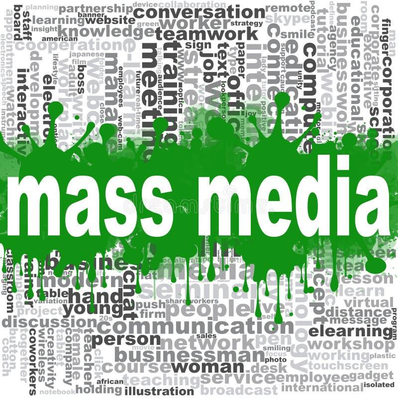 Σύννεφο λέξης Μέσων Μαζικής Επικοινωνίας ελεύθερη απεικόνιση δικαιώματος