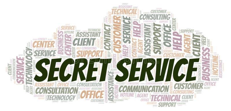 Σύννεφο λέξης Μυστικής Υπηρεσίας απεικόνιση αποθεμάτων