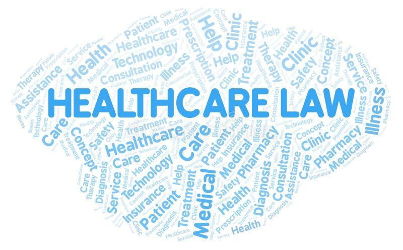 Σύννεφο λέξης νόμου υγειονομικής περίθαλψης απεικόνιση αποθεμάτων