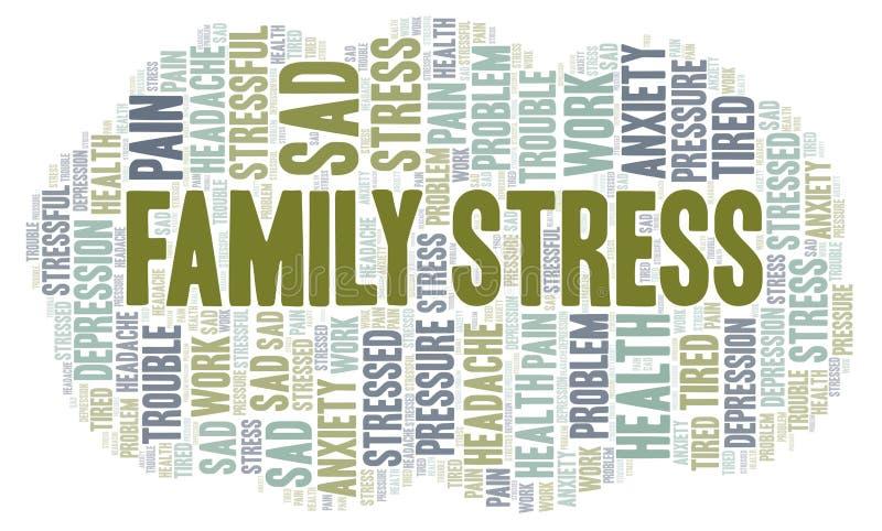 Σύννεφο λέξης οικογενειακής πίεσης απεικόνιση αποθεμάτων