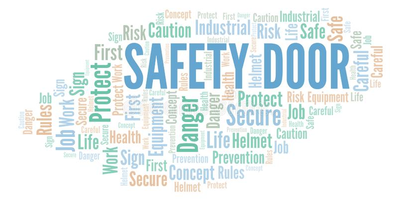 Σύννεφο λέξης πορτών ασφάλειας διανυσματική απεικόνιση