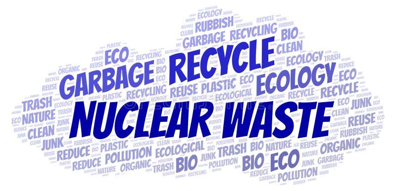 Σύννεφο λέξης πυρηνικών αποβλήτων απεικόνιση αποθεμάτων