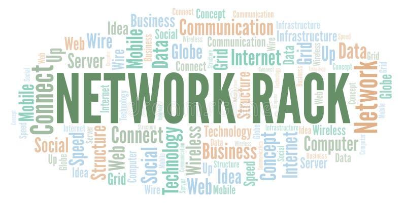 Σύννεφο λέξης ραφιών δικτύων απεικόνιση αποθεμάτων
