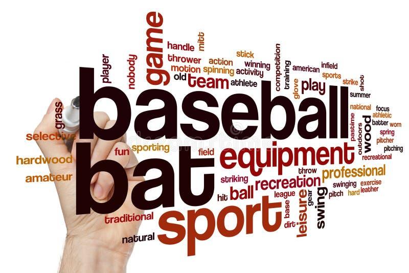 Σύννεφο λέξης ροπάλων του μπέιζμπολ στοκ φωτογραφία με δικαίωμα ελεύθερης χρήσης