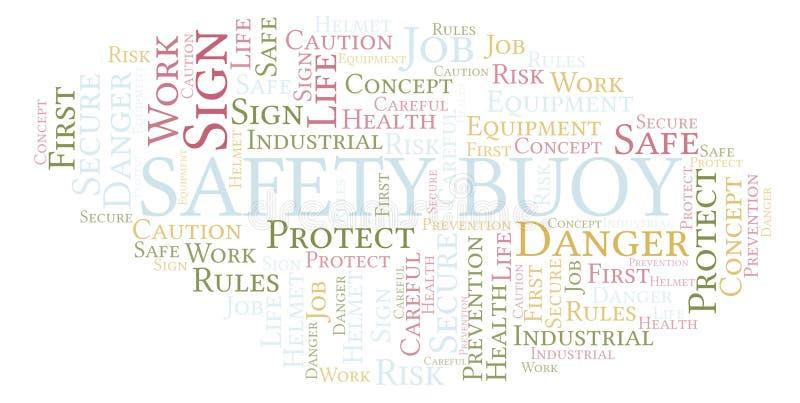 Σύννεφο λέξης σημαντήρων ασφάλειας απεικόνιση αποθεμάτων