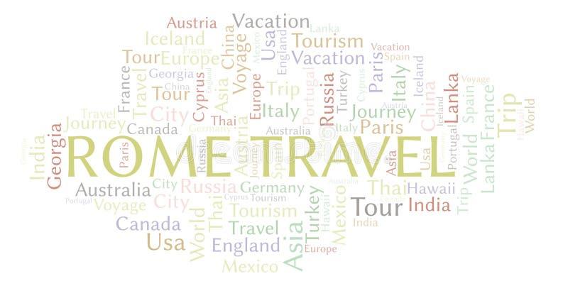 Σύννεφο λέξης ταξιδιού της Ρώμης διανυσματική απεικόνιση