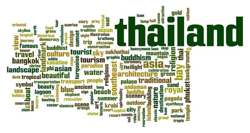 Σύννεφο λέξης της Ταϊλάνδης ελεύθερη απεικόνιση δικαιώματος