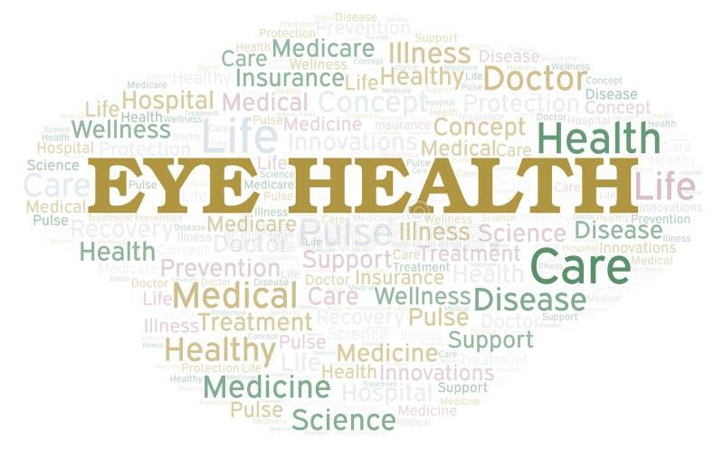 Σύννεφο λέξης υγείας ματιών ελεύθερη απεικόνιση δικαιώματος