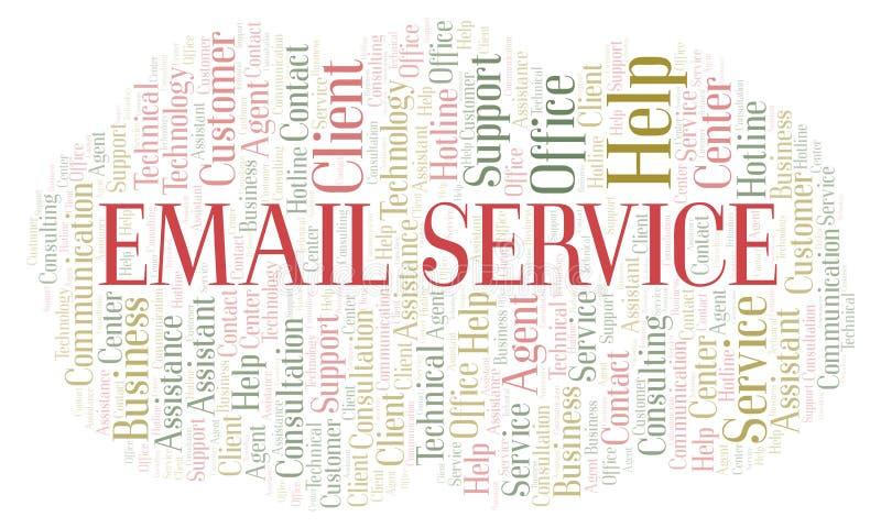 Σύννεφο λέξης υπηρεσίας αποστολής ηλεκτρονικών μηνυμάτων ελεύθερη απεικόνιση δικαιώματος