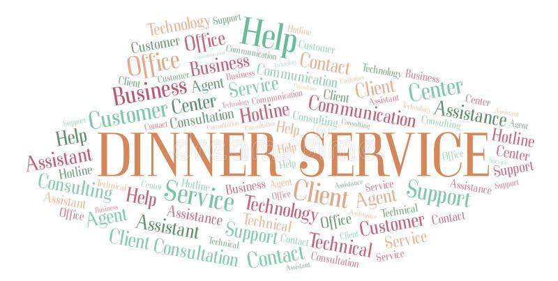 Σύννεφο λέξης υπηρεσιών γευμάτων ελεύθερη απεικόνιση δικαιώματος