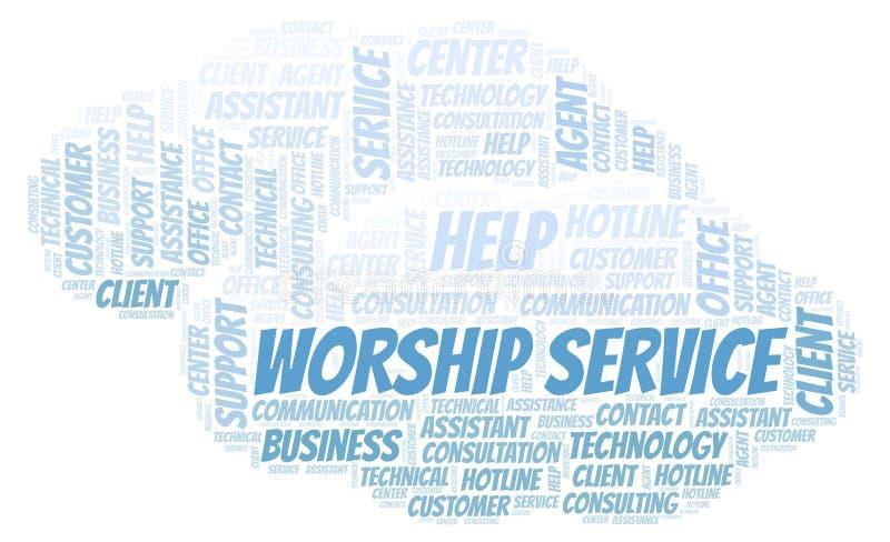 Σύννεφο λέξης υπηρεσιών λατρείας διανυσματική απεικόνιση