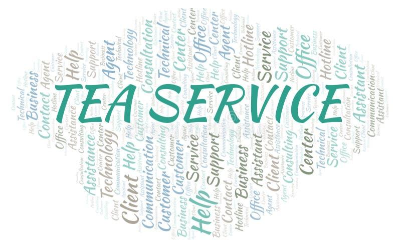 Σύννεφο λέξης υπηρεσιών τσαγιού ελεύθερη απεικόνιση δικαιώματος
