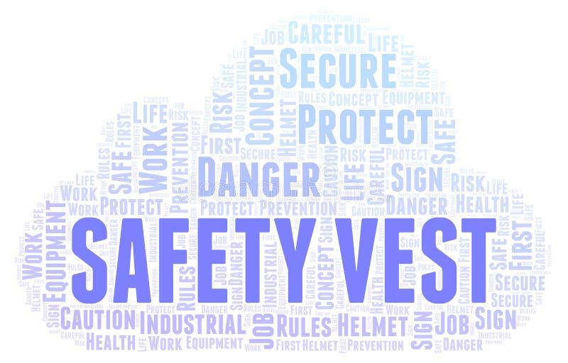 Σύννεφο λέξης φανέλλων ασφάλειας απεικόνιση αποθεμάτων