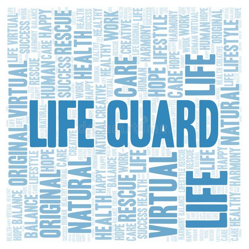 Σύννεφο λέξης φρουράς ζωής διανυσματική απεικόνιση