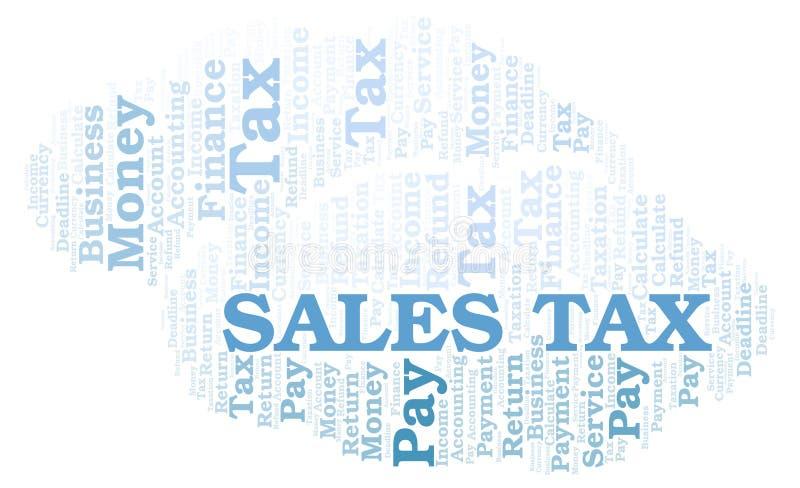 Σύννεφο λέξης φόρος επί των πωλήσεων ελεύθερη απεικόνιση δικαιώματος