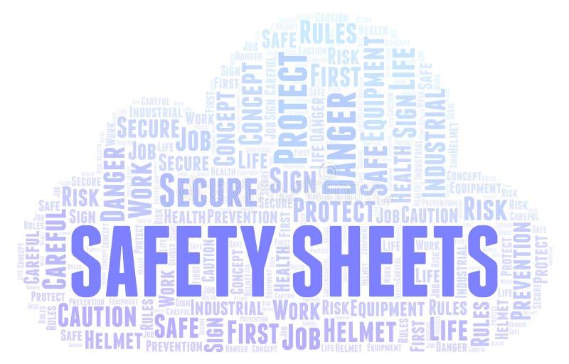 Σύννεφο λέξης φύλλων ασφάλειας απεικόνιση αποθεμάτων
